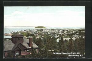 AK Bar Harbor, ME, Birdseye View from Scotts Hill