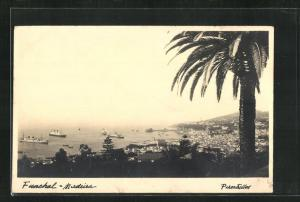 AK Funchal-Madeira, Ortsansicht mit Seeblick