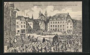 AK Echternach, La procession dansante d'apres une illustration 1849