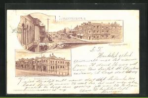 Lithographie Johannesburg, Commissionerstreet, Beursgebouw