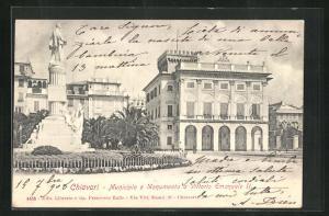 AK Chiavari, Municipale e Monumento a Vittorio Emanuele II.
