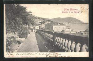AK Porte Maurizio, Giardini di via Genova, Partie im Ort