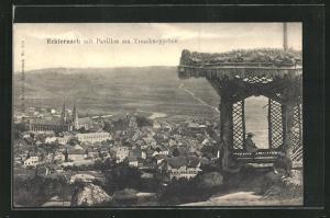 AK Echternach, Blick vom Pavillon am Trosskneppchen auf den Ort