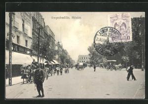 AK Texcoco, Empedradillo, Strassenpartie in der Stadt