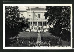 AK Misdroy, Kurhaus mit Kaiser Friedrich-Denkmal