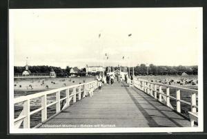 AK Ostseebad Misdroy, Brücke mit Kurhaus
