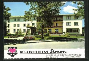 AK Bad Tatzmannsdorf, Kurheim Simon, Strasse am Kurpark