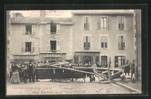AK Limoges, Greves 1905, Barricade de la Rue de la Reynie