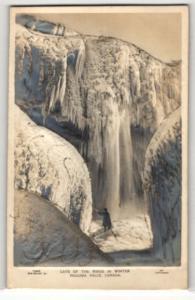 Relief-AK Niagara Falls, Canada, Cave of the Winds in Winter, Gefrorener Wasserfall