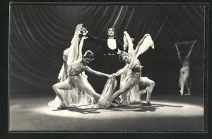 AK Baletttänzer in einer Szene aus Paganini