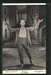 AK Balletttänzer Robert Helpmann in Miracle in the Gorbals