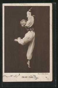 AK Hilde Gad, Portrait der Tänzerin