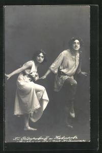 Foto-AK Laurent Novikov und Sofia Federova vom Bolschoi-Ballett
