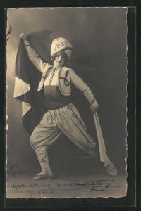 Foto-AK Tänzerin in Bühnenkostüm