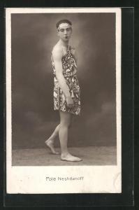 AK Pole Neshdanoff, Tänzer in Kostüm, Varieté