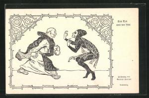 AK Der Tod und der Abt, Totantanz