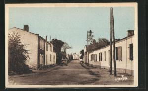 AK Saint-Xandre, Strassenpartie im Ort
