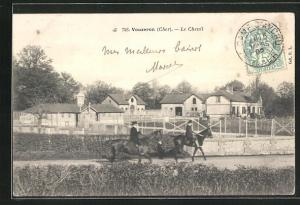 AK Vouzeron, Le Chenil, Reiter auf Pferden