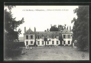 AK Villequiers, Chateau du Colombier, vu du parc