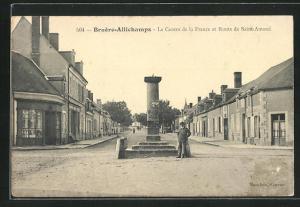 AK Bruere-Allichamps, Le Centre de la France et Route et Route de Saint-Amand