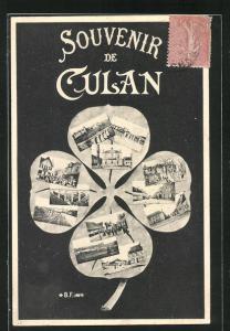 AK Culan, Teilansichten vom Ort auf Glücksklee
