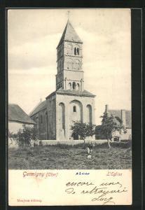 AK Germigny, L`Église, Ansicht der Kirche