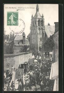 AK Ste-Solange, Pèlerinage, Prozession bei der Kirche