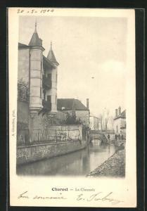 AK Charost, La Chaussée, Häuser am Kanal