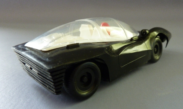 Modellauto: DDR-Modellauto Rennsportwagen Ferrari P5 G.T., Original aus DDR-Produktion, o. Antrieb 1
