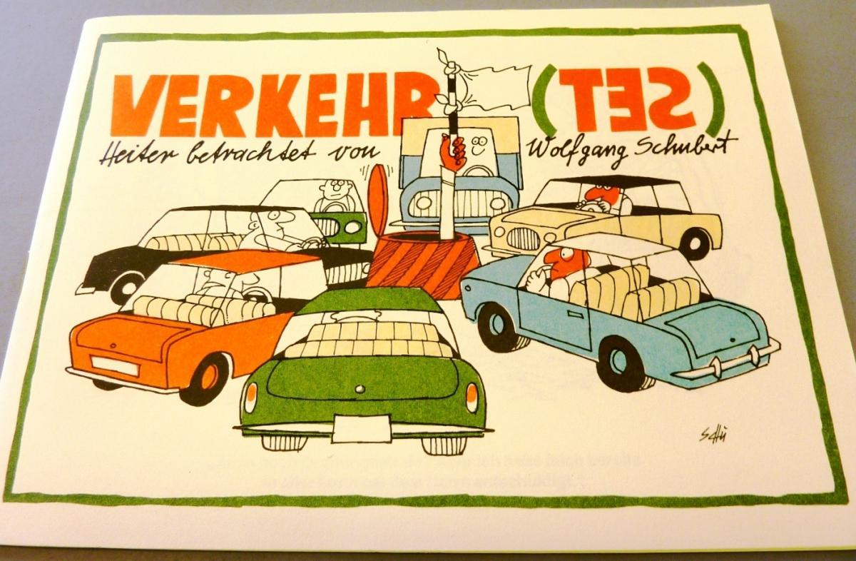Karikaturen: DDR-Satire-Heftchen Verkehr(tes), Original aus DDR-Produktion, A5 0
