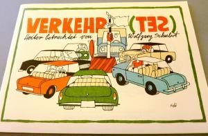 Karikaturen: DDR-Satire-Heftchen Verkehr(tes), Original aus DDR-Produktion, A5