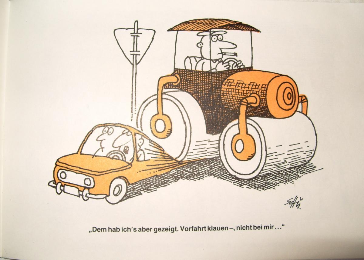 Karikaturen: DDR-Satire-Heftchen Verkehr(tes), Original aus DDR-Produktion, A5 1