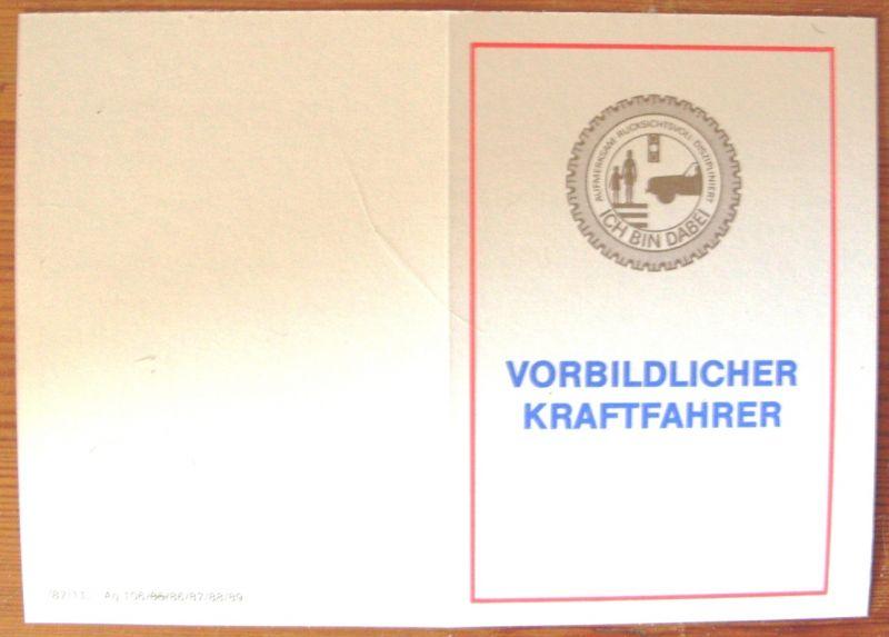 Anstecknadel: DDR-Anstecknadel - Vorbildlicher Kraftfahrer, mit Blanko-Ausweis, Original aus DDR-Produktion, KOMPLETT EXTREM SELTEN! 3