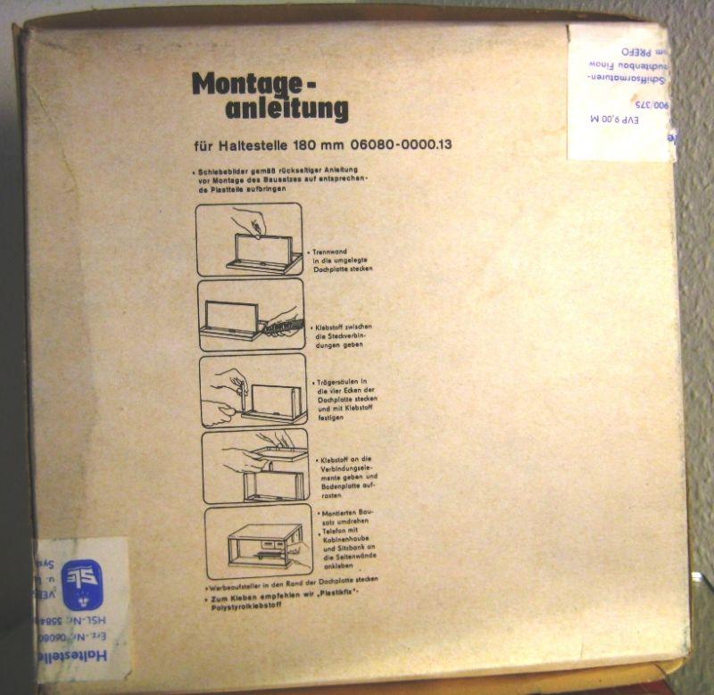 Bausatz: DDR-Bausatz - Junioren-Champion - Haltestelle für Autorennbahn, Original aus DDR-Produktion, 80er Jahre, in OVP 3