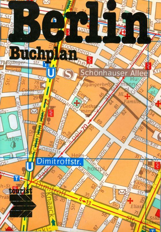 Stadtplan: DDR-Stadtplan Ost-Berlin, Buchplan mit Karte und Straßenverzeichnis, 1990