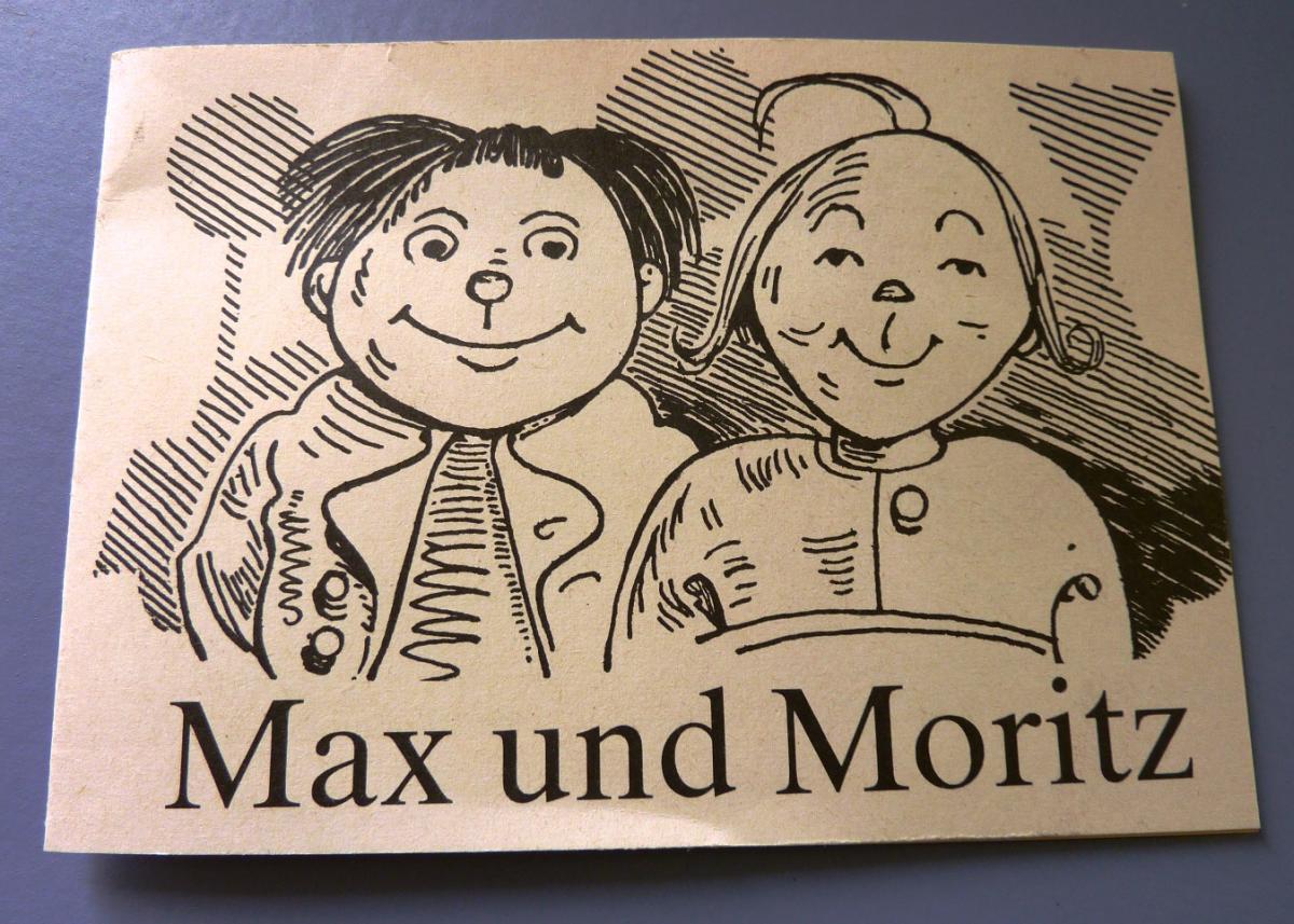 Malheft: DDR-Ausmalheft für die Kurzen - Max und Moritz - leicht umgedichtet für die Verkehrserziehung, Original aus DDR-Produktion 0