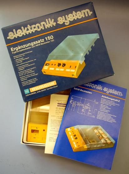 Baukasten: DDR-Elektronik-Baukasten elektronik system NKM 150, Ergänzungssatz zum Elektronik-Baukasten NKM 100, Original aus DDR-Produktion, OVP, SEHR SELTEN!