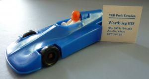 Modellauto: DDR-Modellauto - Rennsportwagen Wartburg HTS-3 Melkus Formel III, Kunststoff, Original aus DDR-Produktion, 80er Jahre