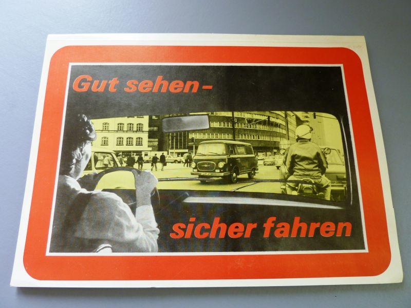 Automobilia: DDR-Tafelwerk,- Gut sehen - sicher fahren, Präsidum der Volkspolizei, Original aus DDR-Produktion, 80er Jahre, sehr selten