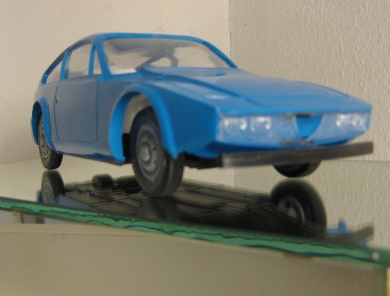 Modellauto: DDR-Modellauto - Alfa Romeo 1300 Junior Zagato, Poystyrol, VEB Anker, 1980 bis 1989
