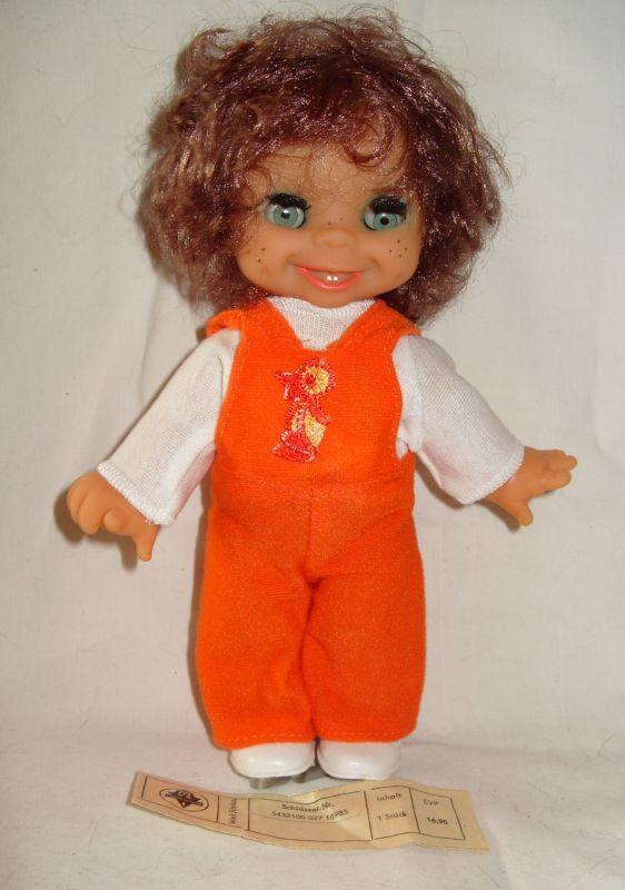Puppe: DDR-Puppe mit Schlafaugen, VEB Spielzeugland, Werk Schalkau, OVP, Original aus DDR-Produktion, 80er Jahre