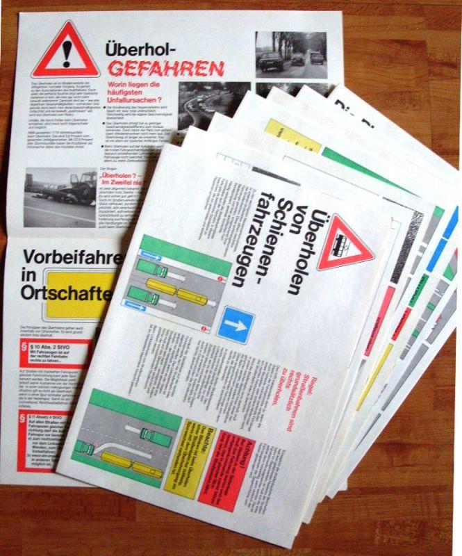 """DDR-Automobilia: Tafelwerk """"Überholen ohne Risiko"""", Original aus DDR-Produktion 1988 2"""