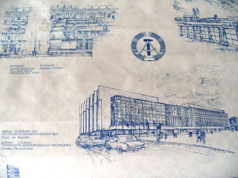 Das besondere  Geschenkpapier/ Einwickelpapier -  Original aus DDR-Produktion, 80er Jahre