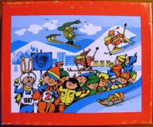 Spielzeug und Sammeln: DDR-Spielzeug - Puzzle XI. Kinder- und Jugendspartakiade, VEB Plasticart, Original aus DDR-Produktion, 1987