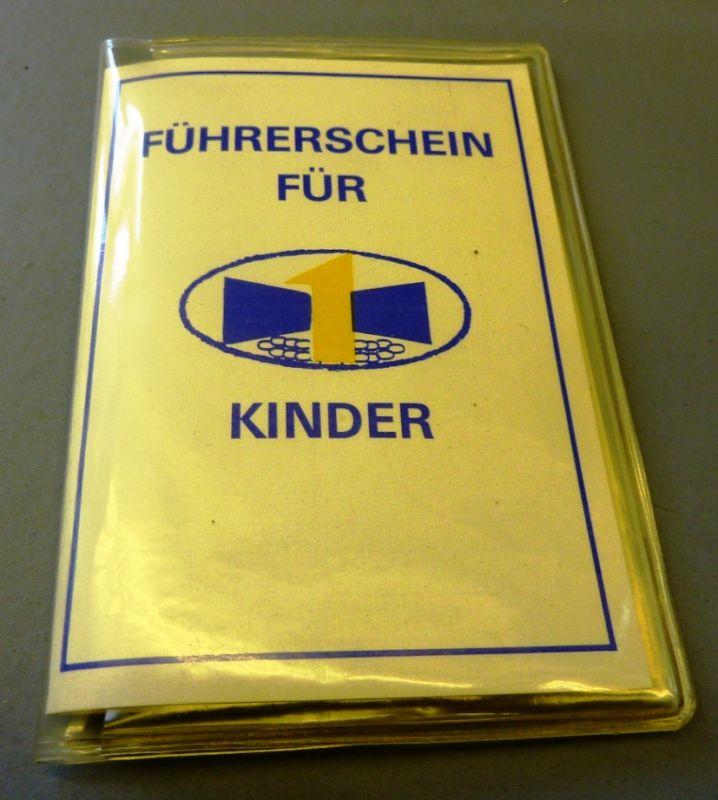 Führerschein für Kinder - Verkehrserziehung, Original aus DDR-Produktion, in Klarsichthülle, 80er Jahre