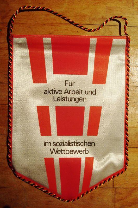 Wimpel - DDR, Zivilverteidigung: Für aktive Arbeit und Leistungen im sozialistischen Wettbewerb, Original, DDR, 1989/90