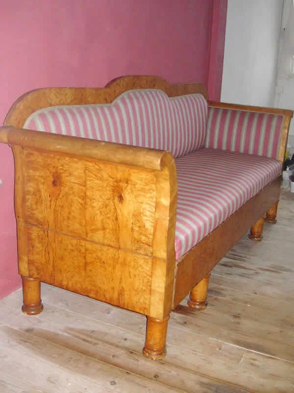 empire sofa biedermeier sofa birke. Black Bedroom Furniture Sets. Home Design Ideas