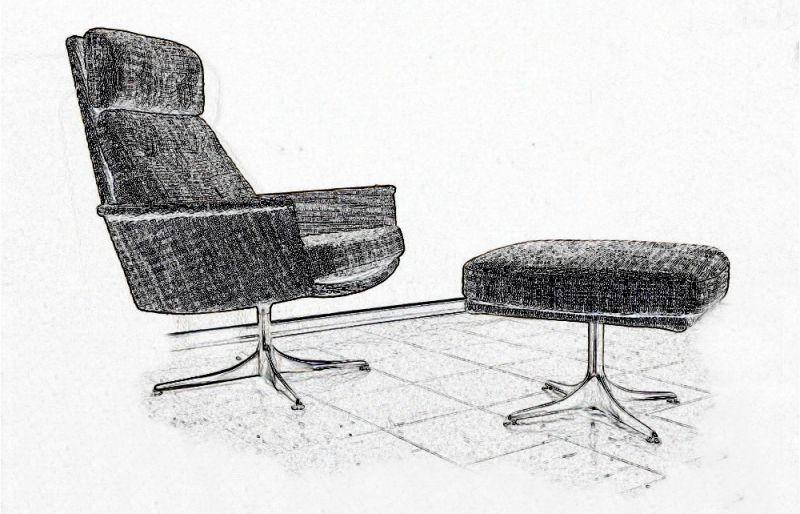 4 Stühle Polsterstuhl Esszimmer Stuhl NUSSBAUM Walnut Aus Schweden 60er  Jahre 1