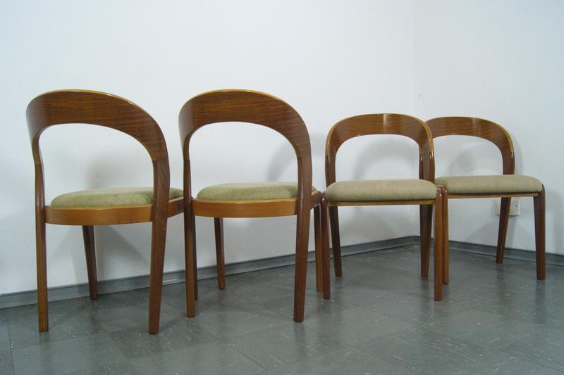Schön 4 Stühle Polsterstuhl Esszimmer Stuhl NUSSBAUM Walnut Aus Schweden 60er  Jahre 5
