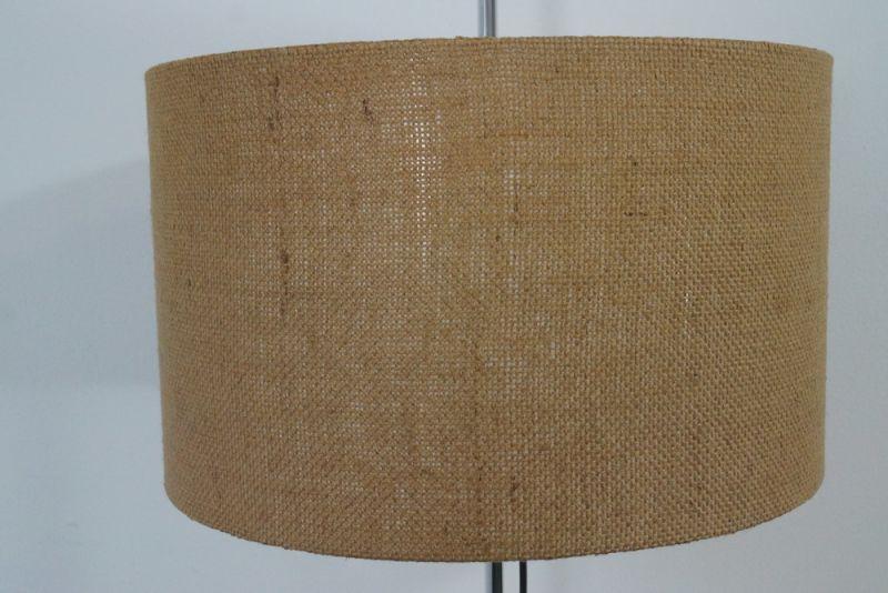 WEST DEUTSCHE STEHLAMPE FLOOR LAMP STAFF CHROM BODENLAMPE 60ER NEUER SCHIRM 4